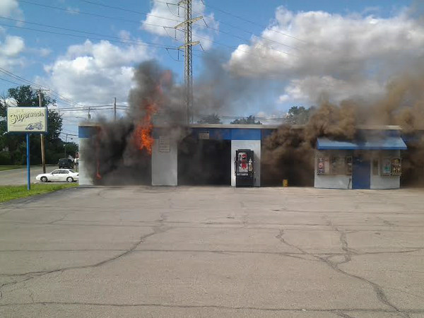 Lorain Super Wash fire, Aug. 14, 2014