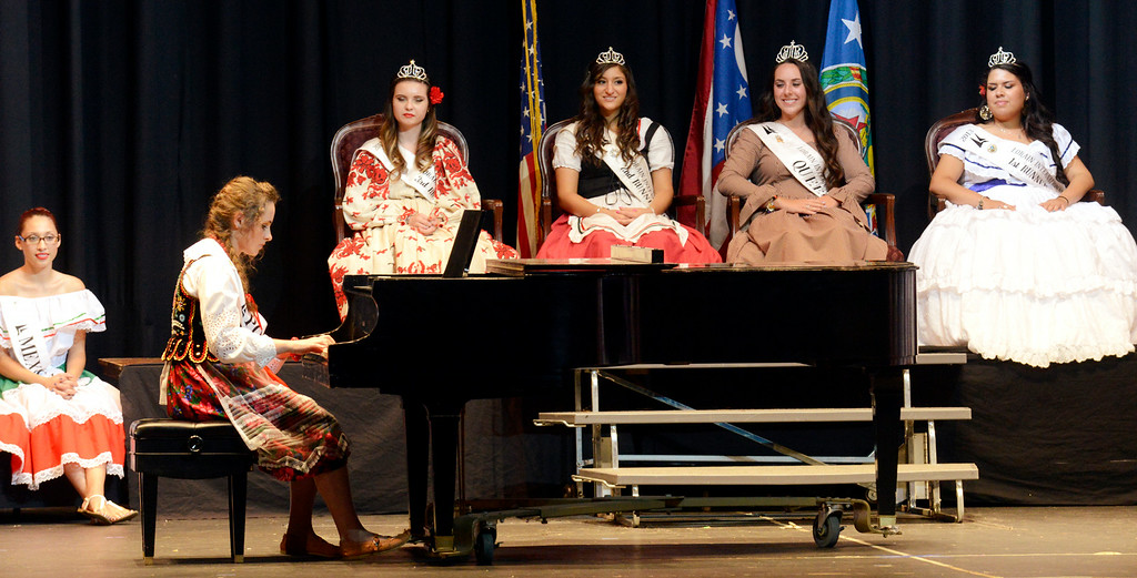 Description of . Maribeth Joeright/MJoeright@News-Herald.com <p> Anastazja Golab, Polish Princess, was one of the contestants of the 48th annual Lorain International Princess Pageant, June 26, 2014. She was the first runner up in the pageant and she played the piano for the talent portion of the pageant.