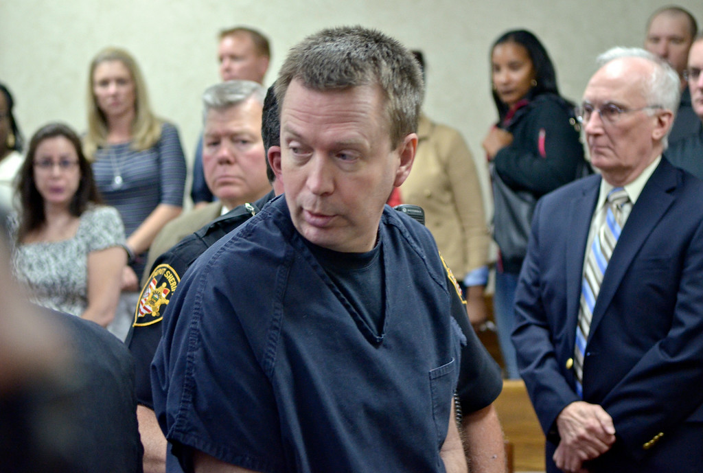Description of . Jeff Forman/JForman@News-Herald.com Kevin Knoefel leaves Lake County Common Pleas Court Aug. 6  after being sentenced to a minimum of 42 years for convincing his foster daughter to stab his wife to death.