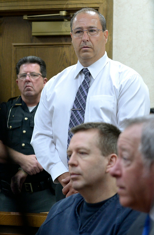 Description of . Jeff Forman/JForman@News-Herald.com Nicholas Zanella, Lisa Knoefel's first husband, speaks during Kevin Knoefel's sentencing Aug. 6 in Lake County Common Pleas Court. Zanella's 13-year-old daughter witnessed the murder.