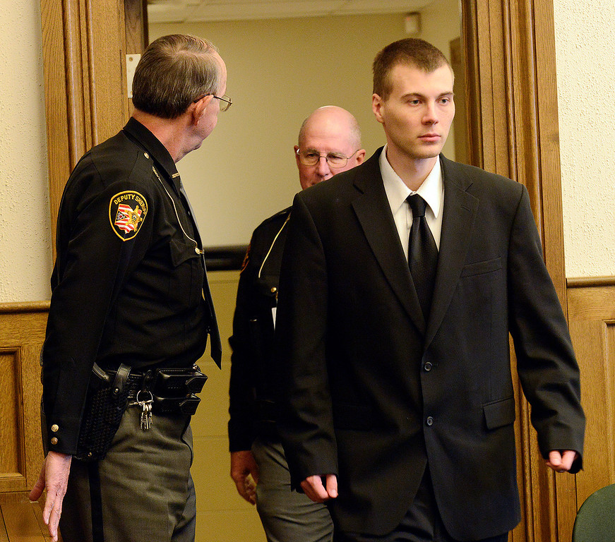 Description of . Maribeth Joeright/MJoeright@News-Herald.com<p> Nathaniel Brown walks into the courtroom of Lake County Common Pleas Judge Richard, L. Collins, Monday, for the start of his retrial for aggravated murder. Brown was convicted in Novemeber 2011 of aggravated murder in the death of William Andrew Fayne Putzbach. The 11th District Court of Appeals ordered he get a new trial due to  lack of evidence.