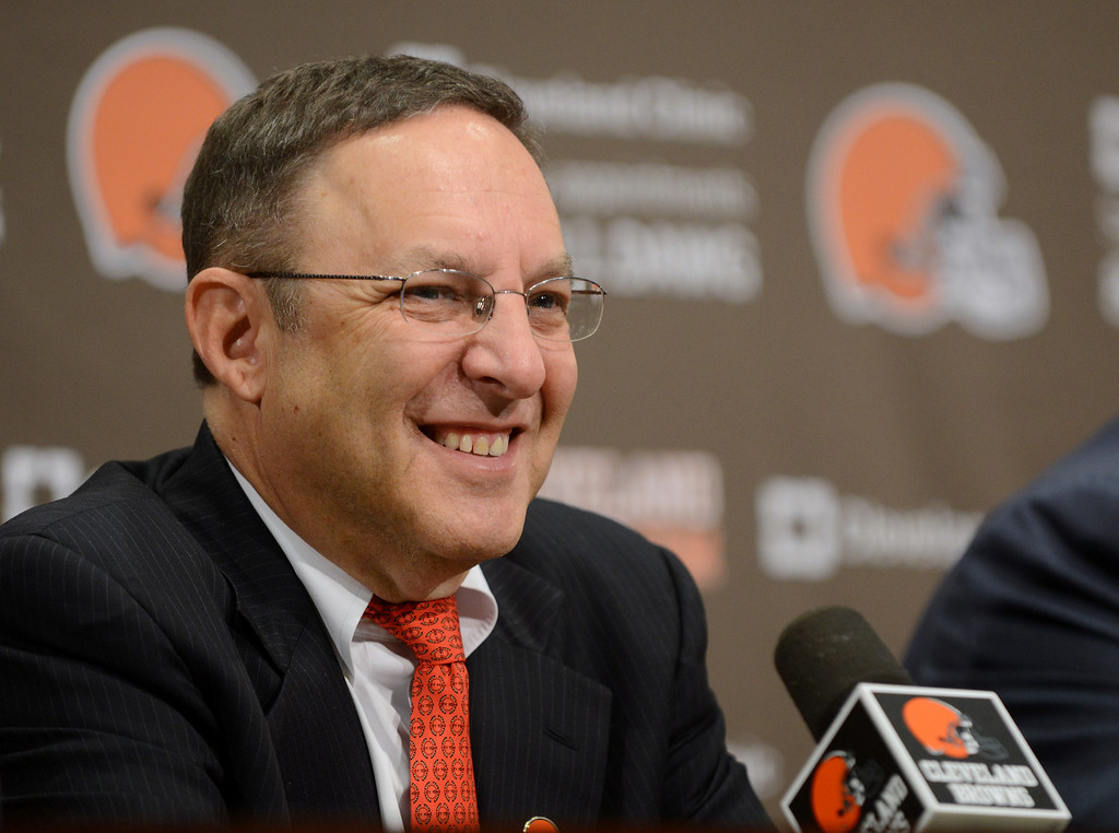 Description of . Duncan Scott/DScott@News-Herald.com Joe Banner is introduced as the Browns' new Chief Executive Officer on October 17, 2012 at Browns headquarters in Berea.