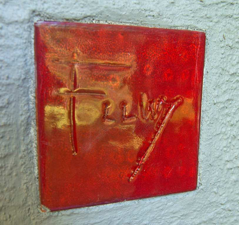 Description of . Duncan Scott/DScott@News-Herald.com Frank Lloyd Wright's signature red tile on the Louis Penfield House in Willoughby Hills.