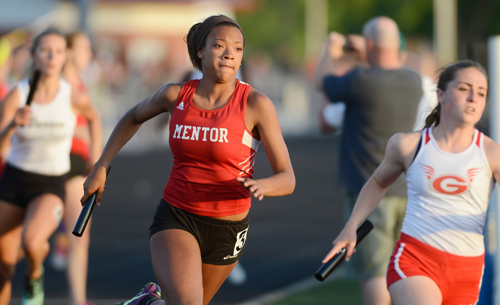 Description of . Maribeth Joeright/MJoeright@News-Herald.com<p> Mentor and Geneva girls 4X400 meter relay teams will advance to the state meet next weekend in Columbus.