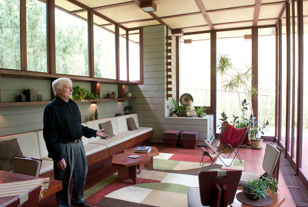 Description of . Duncan Scott/DScott@News-Herald.com Paul Penfield has put the Louis Penfield House in Willoughby Hills up for sale. The home was designed by Frank Lloyd Wright for Paul's father Louis Penfield.