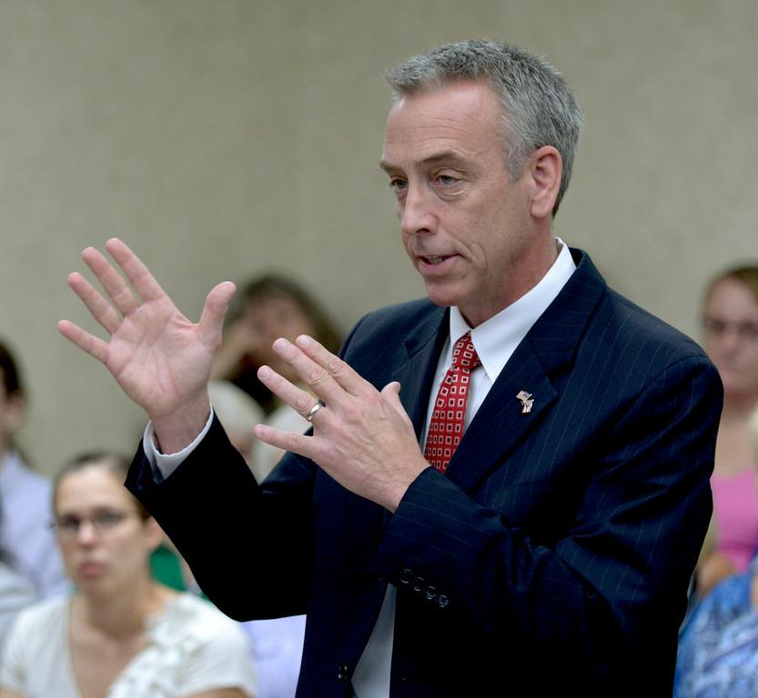 Description of . Jeff Forman/JForman@News-Herald.com Prosecutor John O'Donnell speaks during Kevin Knoefel's sentencing Aug. 6 in Lake County Common Pleas Court.