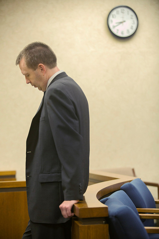 Description of . Michael Allen Blair/MBlair@News-Herald.com Kevin Knoefel waits for his conspiracy trial to resume in Lake County Common Pleas Court on  June 2, 2014.