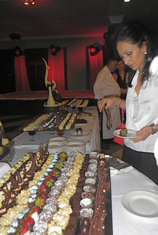 Description of . Janet Podolak/JPodolak@News-Herald.com<p> Coconut Bay's weekly chocolate buffet is a mind-boggling array of confections set out after the adult dinner hour.