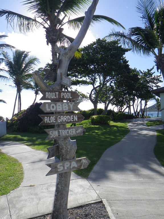 Description of . Janet Podolak/JPodolak@News-Herald.com<p>                                                                        Signs around the grounds of Coconut Bay Resort point  the way to adult-only and family amenities.