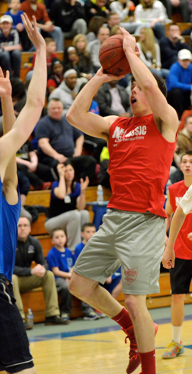 Description of . Jeff Forman/JForman@News-Herald.com Caleb Potter shoots during the 36th News-Herald Classic March 29 at Lakeland Community College.