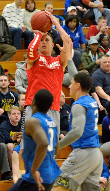 Description of . Jeff Forman/JForman@News-Herald.com Conner Krizancic shoots during the 36th News-Herald Classic March 29 at Lakeland Community College.