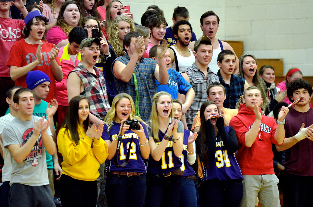 . Jeff Forman/JForman@News-Herald.com Berkshire fans cheer as Frieling enters the game in the fourth quarter.