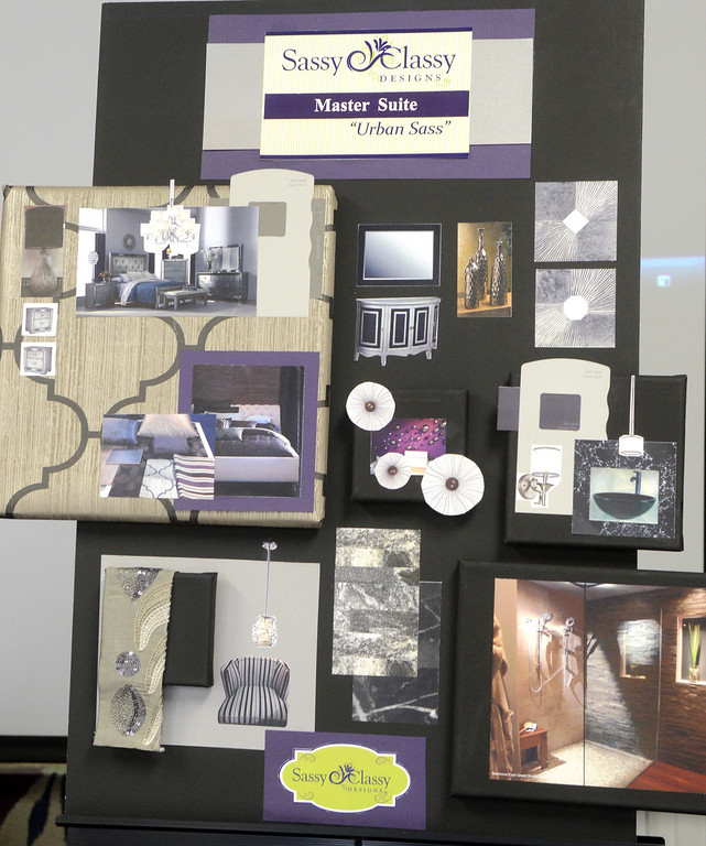 . Duncan Scott/DScott@News-Herald.com Design elements of the master suite by Sassy and Classy Designs for the 2014 Lake County YMCA Dream House.