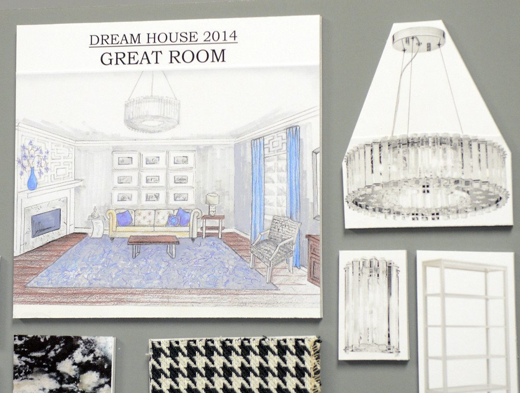 . Duncan Scott/DScott@News-Herald.com Drawings of Deb Metcalf\'s design of the great room in the 2014 Lake County YMCA Dream House.