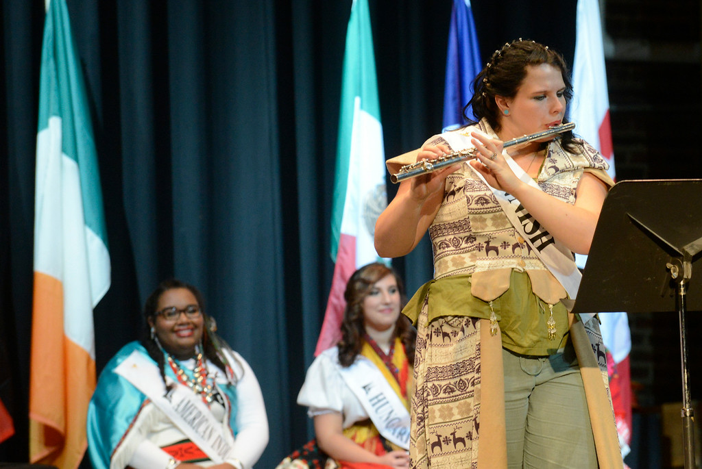 . Maribeth Joeright/MJoeright@News-Herald.com <p> Ariana Bratulic, Finnish Princess, was one of the contestants of the 48th annual Lorain International Princess Pageant, June 26, 2014. She played the flute for the talent part of the pageant.
