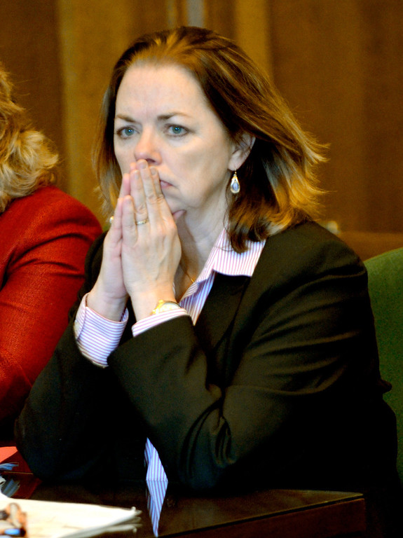 . Jeff Forman/JForman@News-Herald.com Chief Assistant Prosecutor Karen Kowall waits in Lake County Common Pleas Court March 3 before Nathaniel Brown is re-sentenced in for the 2011 murder of William Andrew Fayne Putzbach.