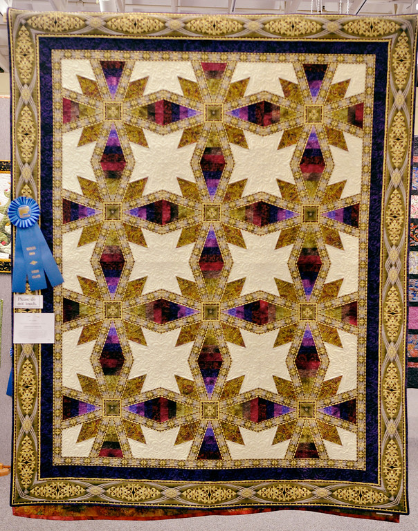""". Jeff Forman/JForman@News-Herald.com \""""Coraline\"""" by Michele Howell, of Madison, won first place in the individual pieced bed quilt category."""