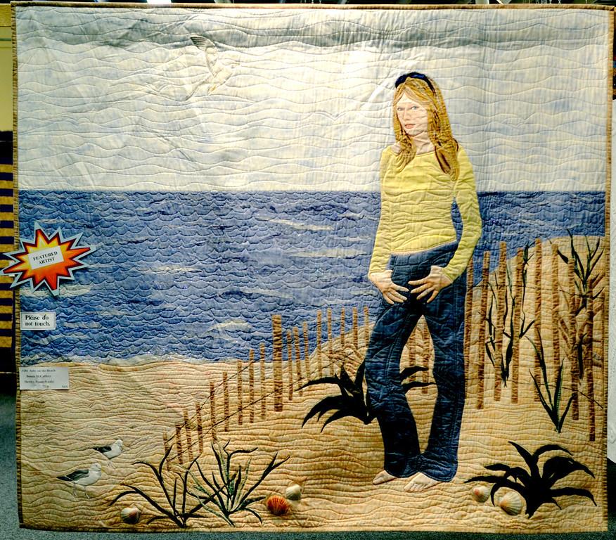 ". Jeff Forman/JForman@News-Herald.com \""Abby on the Beach\"" by featured artist Bonnie McCaffery of Hawley, Pa."