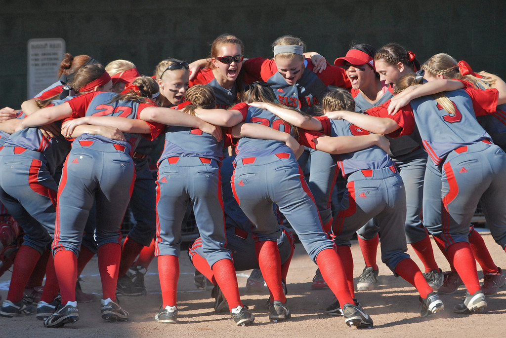 . Jeff Forman/JForman@News-Herald.com The Pioneers huddle before taking the field against Grove City in the state semi final June 5 at Firestone Stadium in Akron.