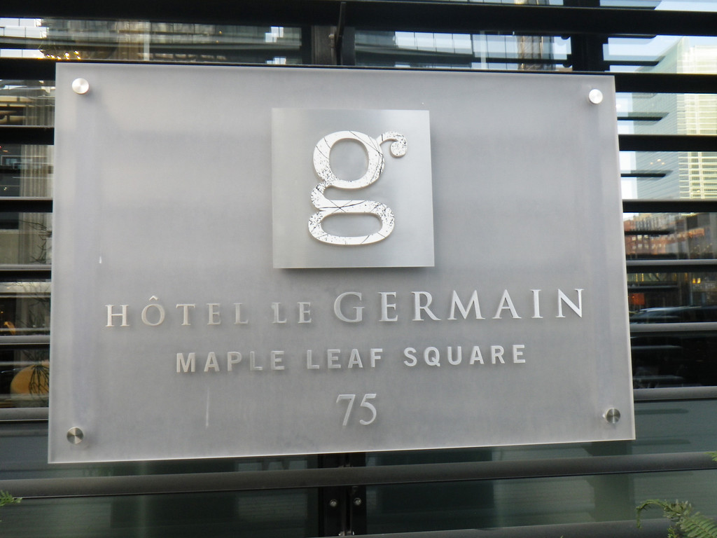 . Janet Podolak/JPodolak@News-Herald.comThe Hotel le Germain Maple Leaf Square is low key in announcing its presence almost next to the venue where the Maples Leafs and Raptors play.