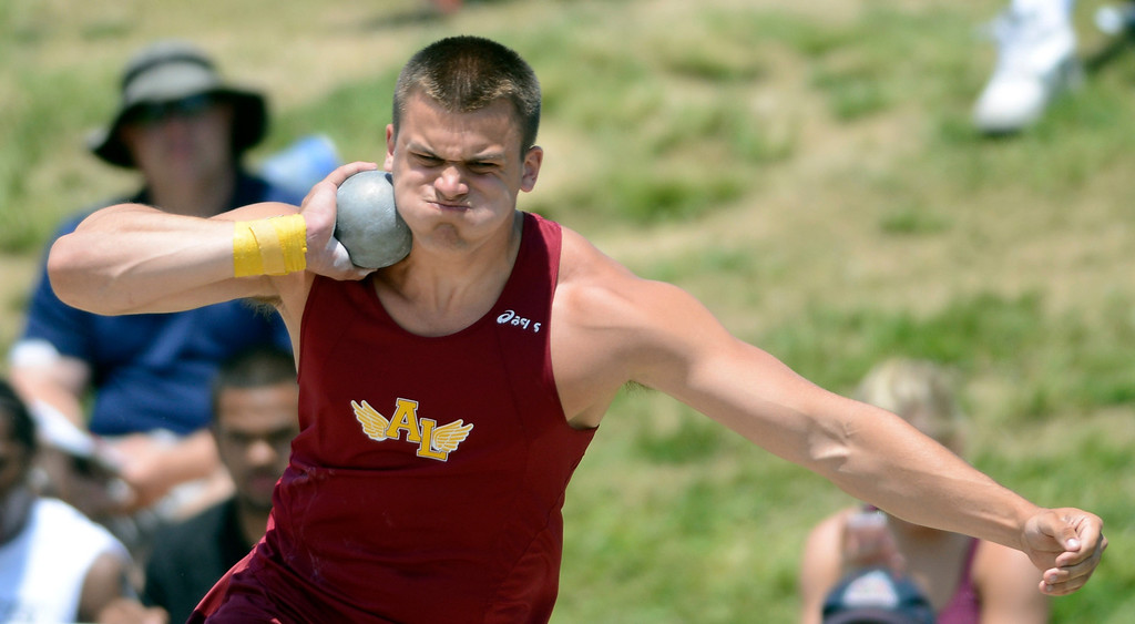 . Maribeth Joeright/MJoeright@News-Herald.com <p> Avon Lake\'s Max Seipel finished seventh in the Division I boys shot put during the state track and field championship meet in Columbus,  June 7, 2014.