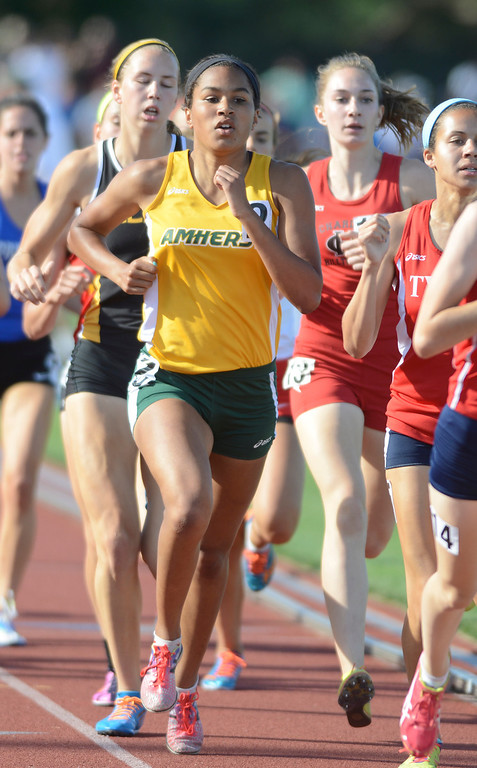 . Maribeth Joeright/MJoeright@News-Herald.com <p> Lorain\'s Alexis Szivan runs with the pack and finishes in seventh place in the girls 800 meter run during the state track and field championship meet in Columbus,  June 7, 2014.
